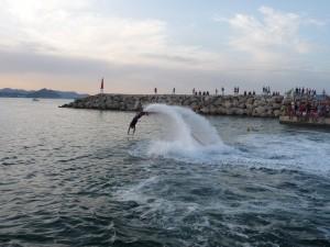 flyboard fiestas de Agosto